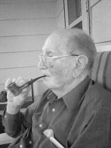 Francis Casey and his pipe